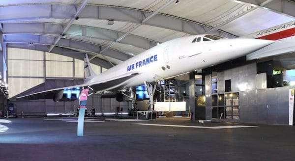 Il concorde di Air France al Museo dell'Aria e dello Spazio