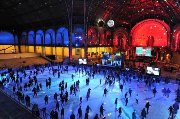 La pista di pattinaggio al Grand Palais