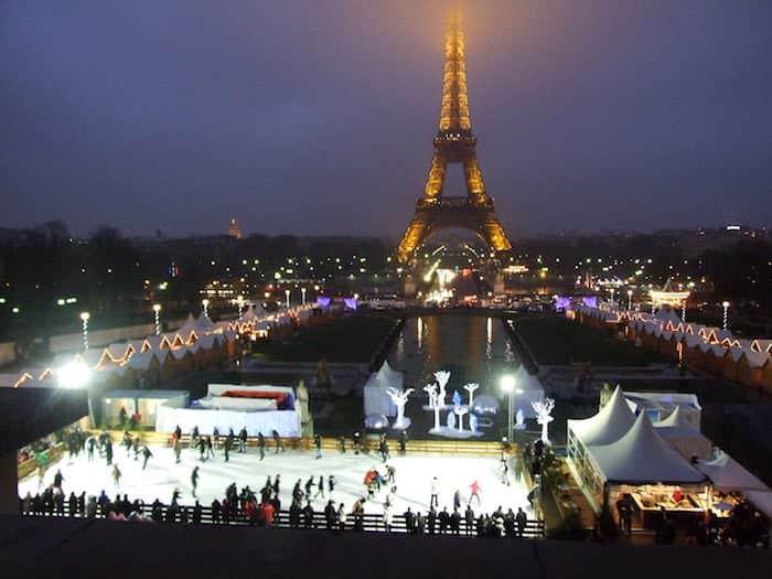 Pista di pattinaggio al Trocadero