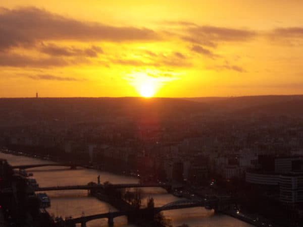 Tramonto visto dalla Tour Eiffel
