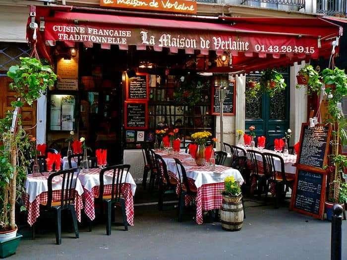 Il ristorante La Maison de Verlaine nel Quartiere Latino