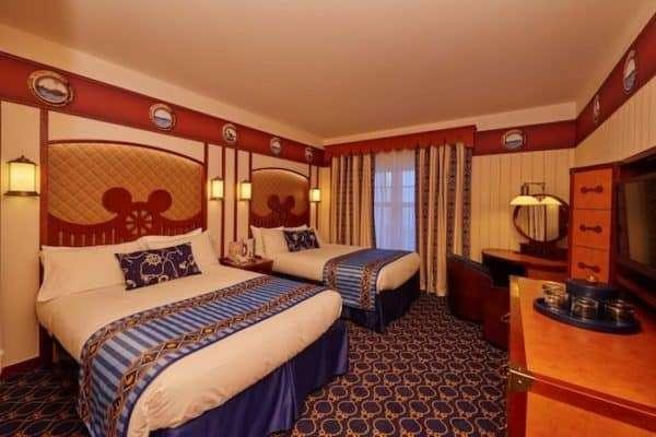 Le camere dell'hotel Newport Bay Club di Disneyland